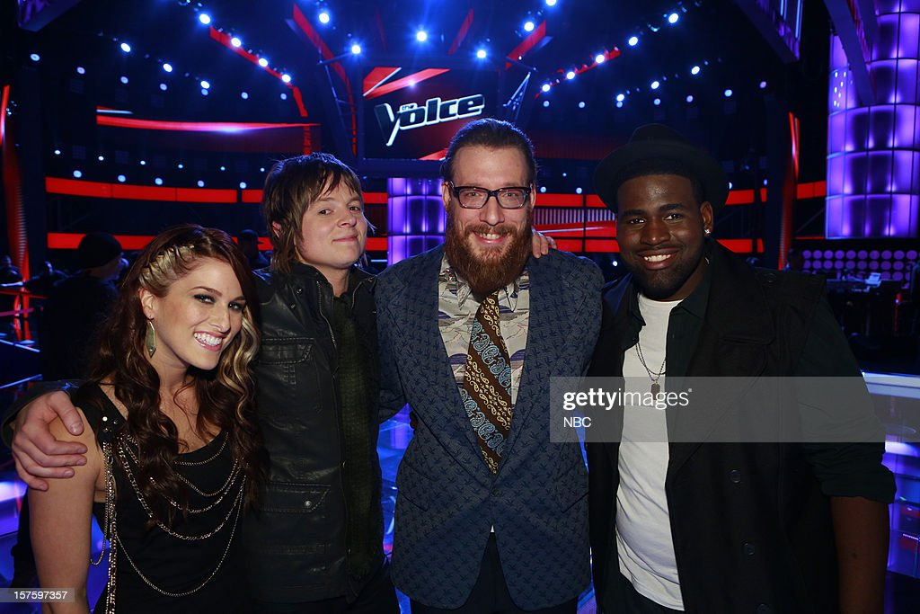 THE VOICE -- 'Live Show' Episode 321B -- Pictured: (l-r) Cassadee Pope, Terry McDermott, Nicholas David, Trevin Hunte --