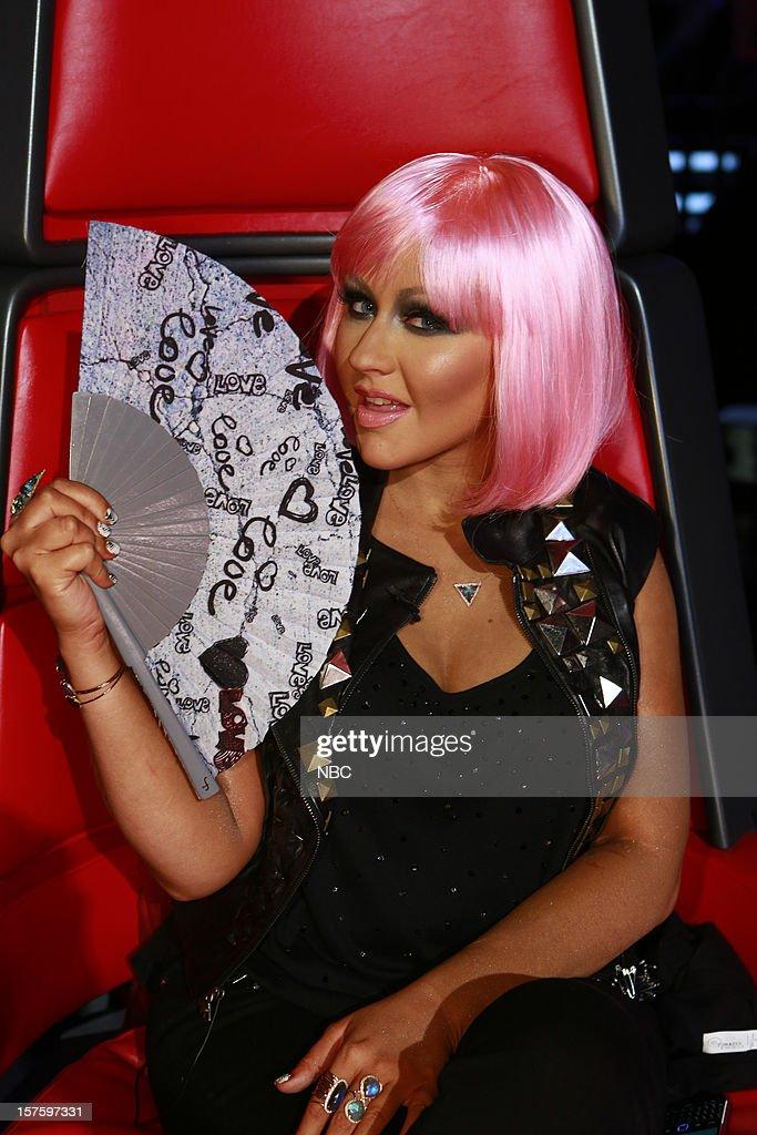 THE VOICE -- 'Live Show' Episode 321B -- Pictured: Christina Aguilera --