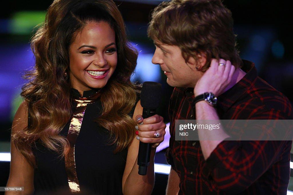 THE VOICE -- 'Live Show' Episode 321B -- Pictured: (l-r) Christina Milian, Rob Thomas --