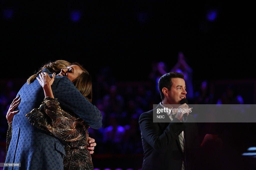 THE VOICE -- 'Live Show' Episode 321B -- Pictured: (l-r) Nicholas David, Amanda Brown, Carson Daly --