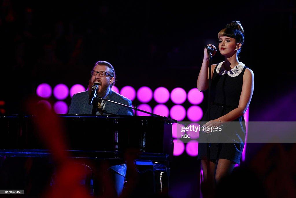 THE VOICE -- 'Live Show' Episode 321B -- Pictured: (l-r) Nicholas David, Melanie Martinez --