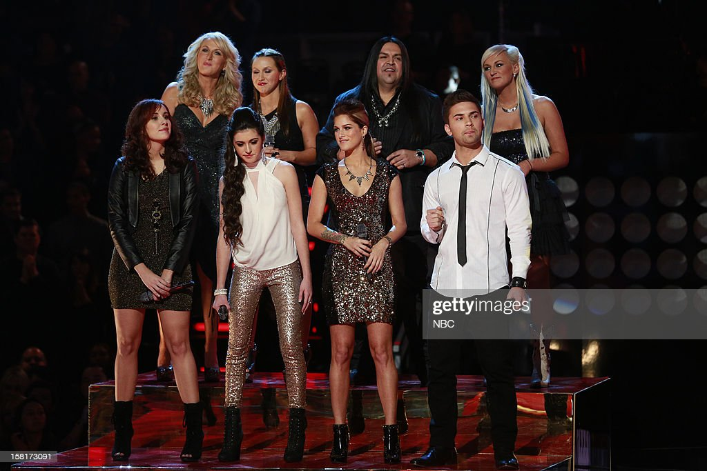 THE VOICE -- 'Live Show' Episode 322A -- Pictured: (l-r) Top Row: Allison Steel, Crystal Steel, Rudy Parris, Gracia Harrison; Bottom Row: Lelia Broussard, Kelly Crapa, Cassadee Pope, Charlie Rey --