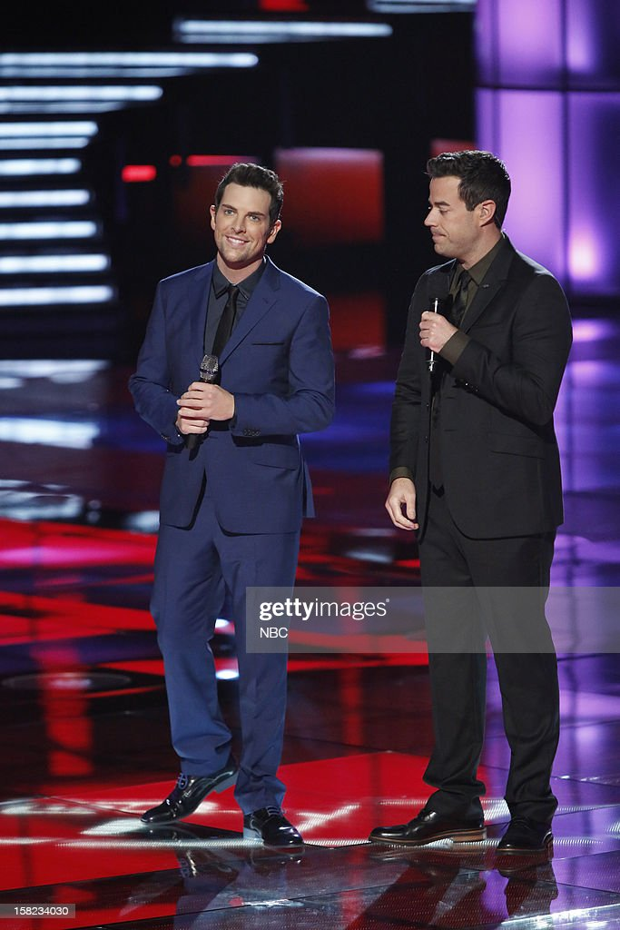 THE VOICE -- 'Live Show' Episode 322B -- Pictured: (l-r) Chris Mann, Carson Daly --