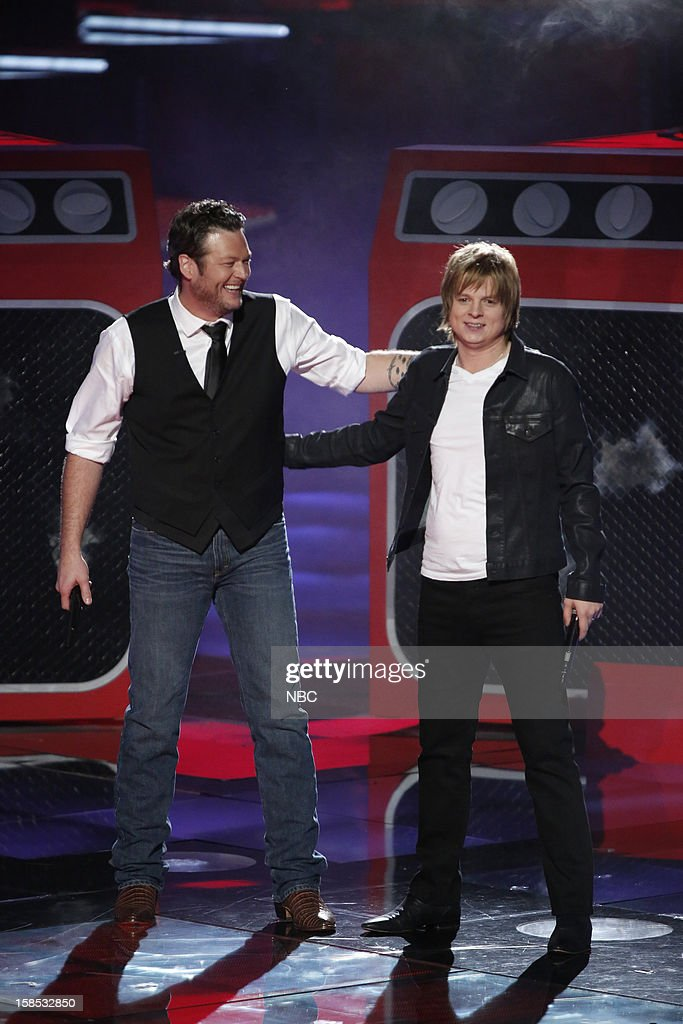 THE VOICE -- 'Live Show' Episode 323A -- Pictured: (l-r) Blake Shelton, Terry McDermott --