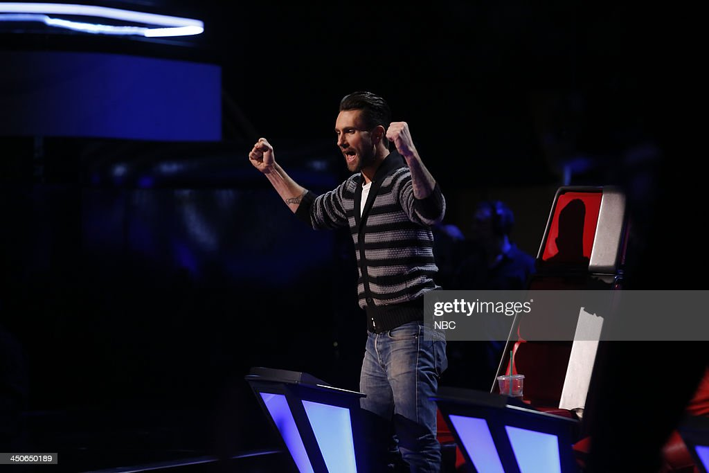 THE VOICE -- 'Live Show' Episode 515B -- Pictured: <a gi-track='captionPersonalityLinkClicked' href=/galleries/search?phrase=Adam+Levine+-+Singer&family=editorial&specificpeople=202962 ng-click='$event.stopPropagation()'>Adam Levine</a> --