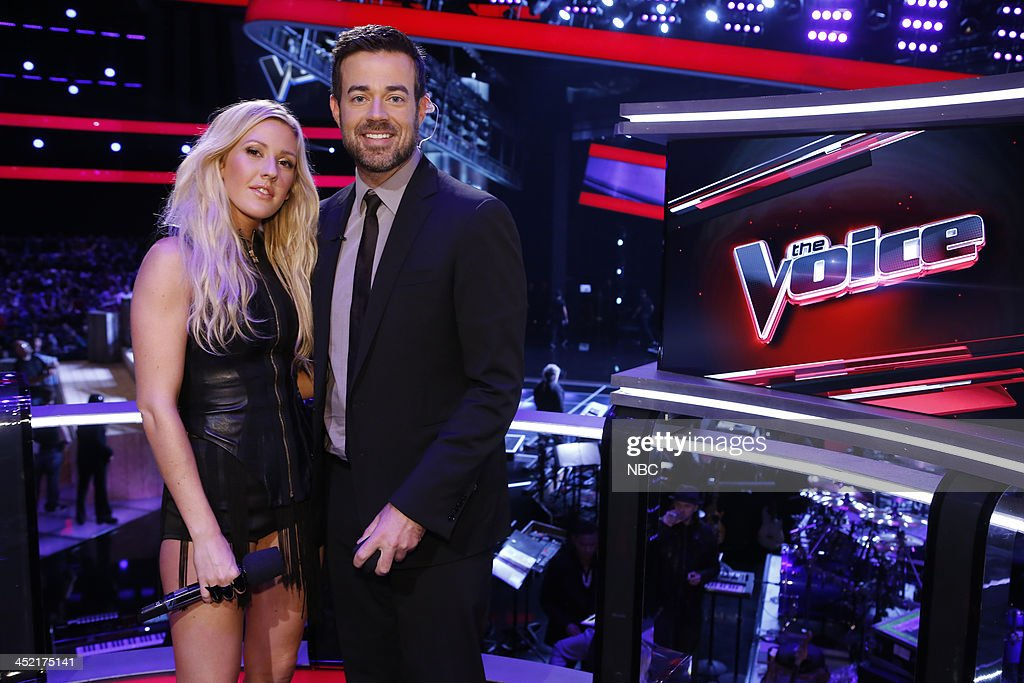 THE VOICE -- 'Live Show' Episode 516B -- Pictured: (l-r) Ellie Goulding, Carson Daly --