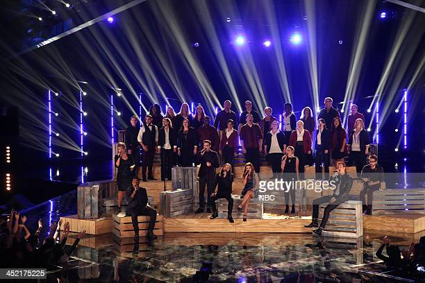 THE VOICE 'Live Show' Episode 516B Pictured Tessanne Chin Matthew Schuler James Wolpert Cole Vosbury Jacquie Lee Caroline Pennell Ray Boudreaux Will...