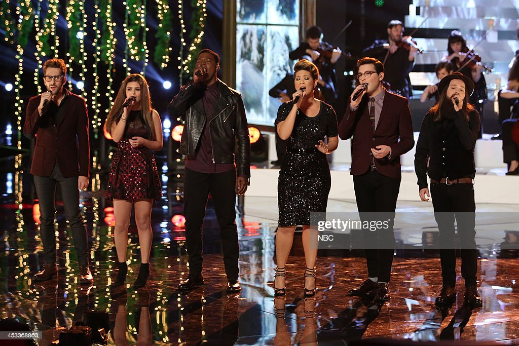 THE VOICE -- 'Live Show' Episode 517B -- Pictured: (l-r) Will Champlin, Jacquie Lee, Matthew Schuler, Tessanne Chin, James Wolpert, Cole Vosbury --