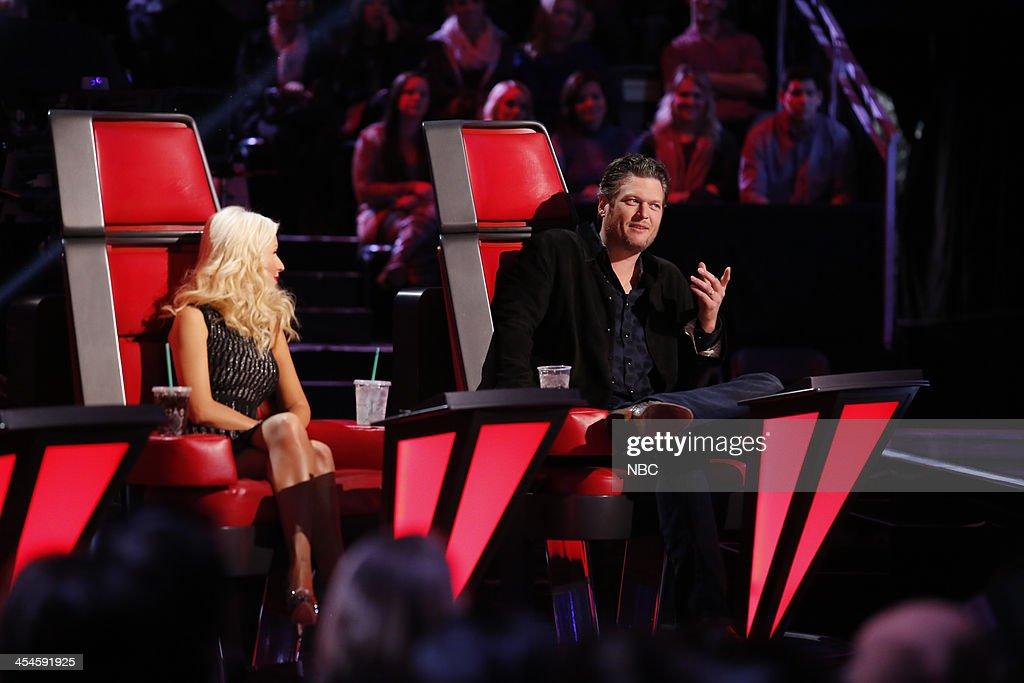 THE VOICE -- 'Live Show' Episode 518A -- Pictured: (l-r) Christina Aguilera, Blake Shelton --