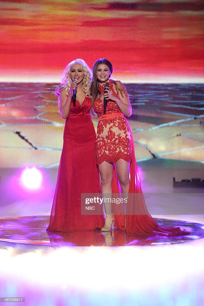 THE VOICE -- 'Live Show' Episode 519A -- Pictured: (l-r) Christina Aguilera, Jacquie Lee --