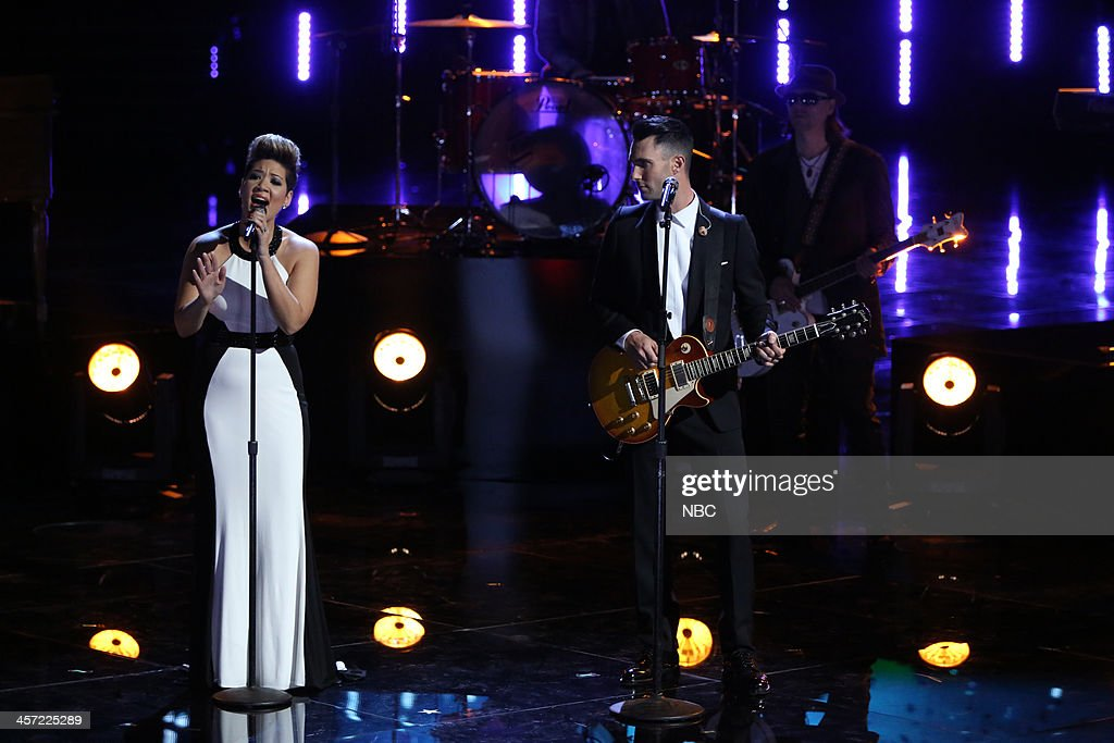 THE VOICE -- 'Live Show' Episode 519A -- Pictured: (l-r) Tessanne Chin, Adam Levine --