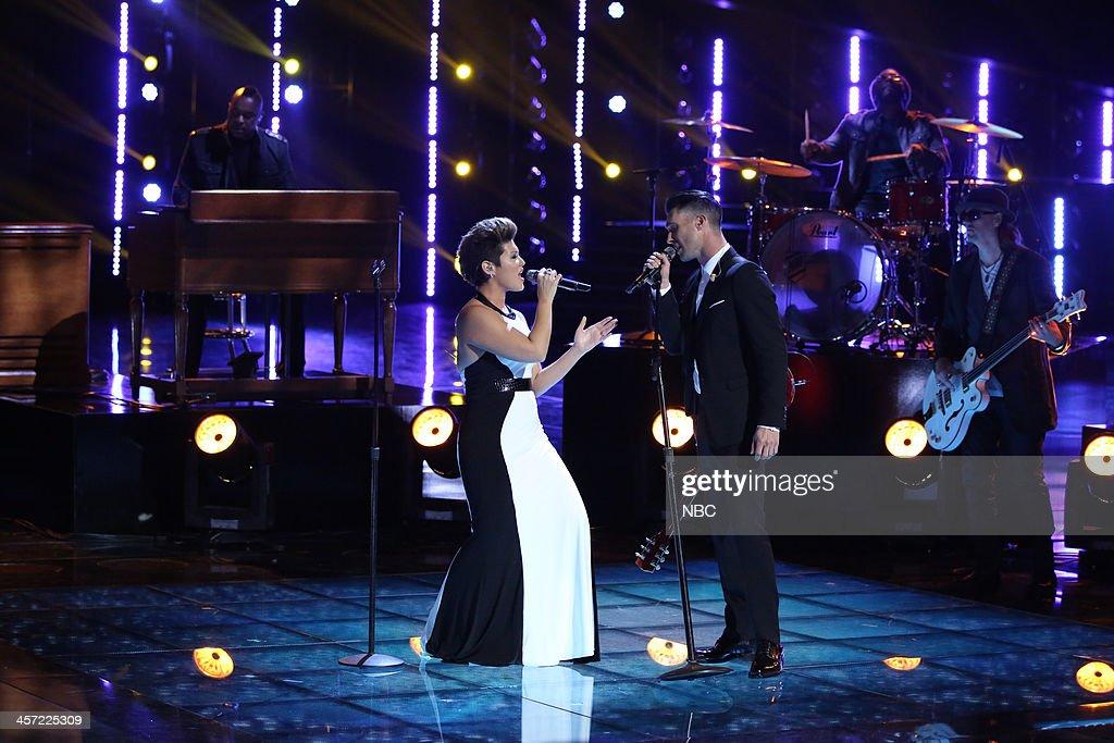 THE VOICE -- 'Live Show' Episode 519A -- Pictured: (l-r) Tessanne Chin, Adam Levine --
