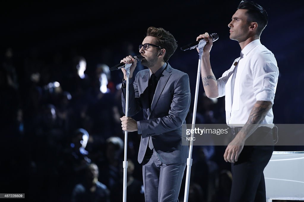 THE VOICE -- 'Live Show' Episode 519A -- Pictured: (l-r) Will Champlin, Adam Levine --