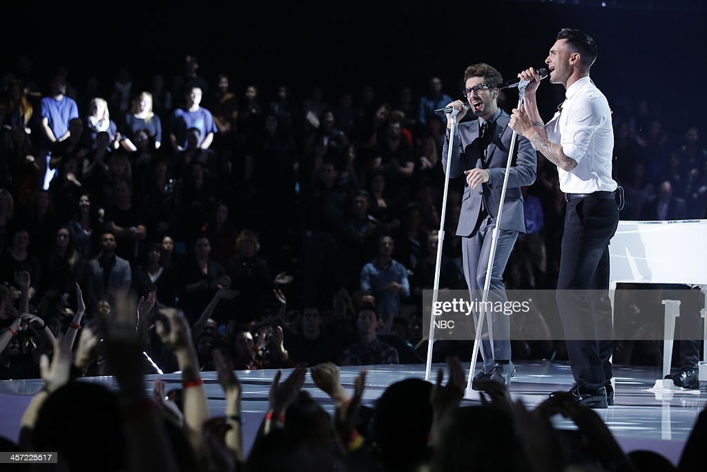 THE VOICE -- 'Live Show' Episode 519A -- Pictured: (l-r) Will Champlin, Adam Levine --