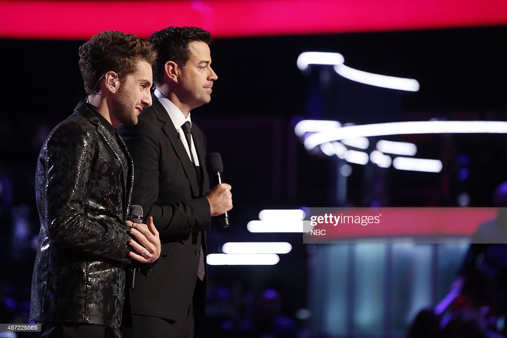 THE VOICE -- 'Live Show' Episode 519A -- Pictured: (l-r) Will Champlin, Carson Daly --