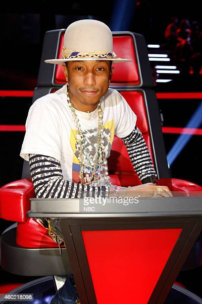 THE VOICE 'Live Show' Episode 717B Pictured Pharrell Williams