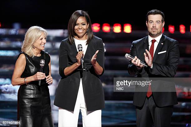 THE VOICE 'Live Top 10' Episode 1015A Pictured Dr Jill Biden Michelle Obama Carson Daly