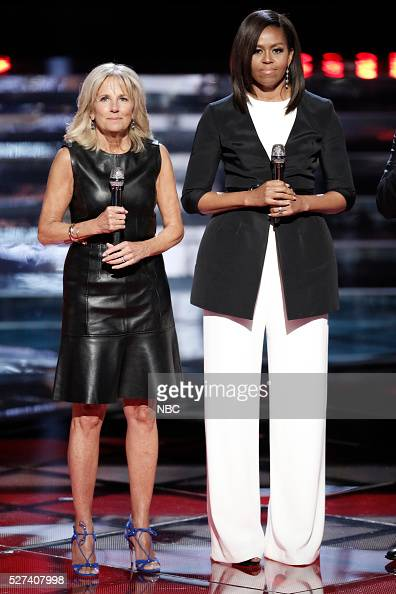 THE VOICE 'Live Top 10' Episode 1015A Pictured Dr Jill Biden Michelle Obama