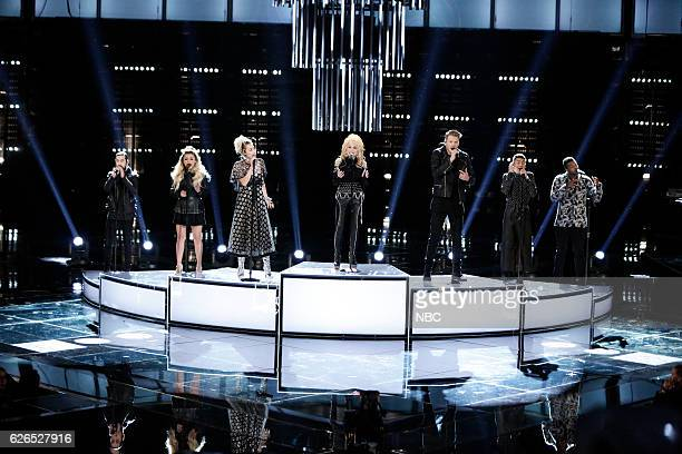THE VOICE 'Live Top 10' Episode 1116B Pictured Pentatonix Miley Cyrus Dolly Parton
