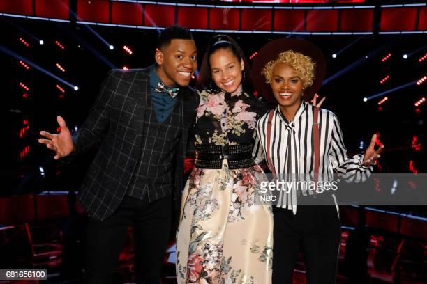 THE VOICE 'Live Top 10' Episode 1217B Pictured Chris Blue Alicia Keys Vanessa Ferguson