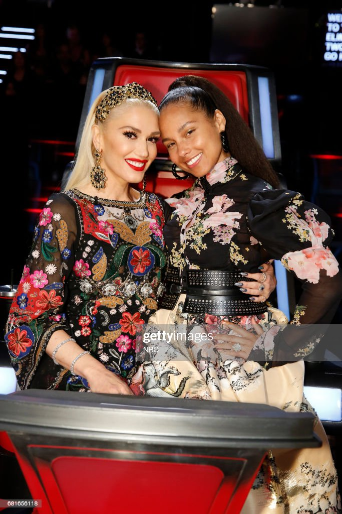 THE VOICE -- 'Live Top 10' Episode: 1217B -- Pictured: (l-r) Gwen Stefani, Alicia Keys --