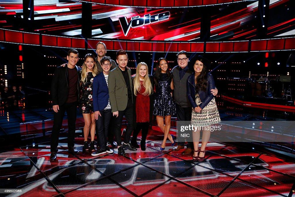 THE VOICE -- 'Live Top 10' Episode 916B -- Pictured: (l-r) Zach Seabaugh, Emily Ann Roberts, Barrett Baber, Braiden Sunshine, Jeffery Austin, Shelby Brown, Amy Vachal, Jordan Smith, Madi Davis --