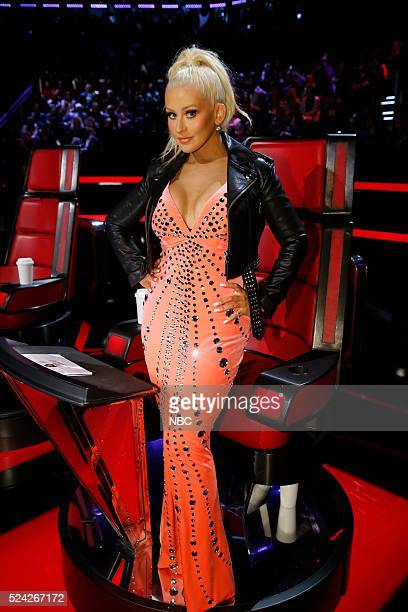 THE VOICE 'Live Top 11' Episode 1014A Pictured Christina Aguilera
