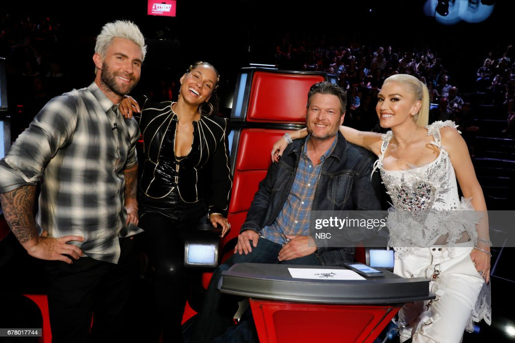 THE VOICE -- 'Live Top 11' Episode: 1216B -- Pictured: (l-r) Adam Levine, Alicia Keys, Blake Shelton, Gwen Stefani --