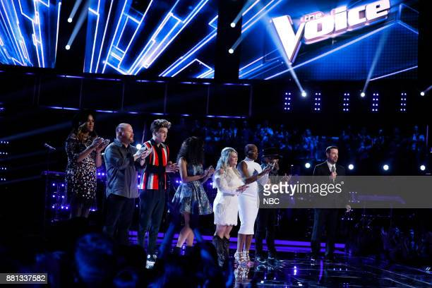 THE VOICE 'Live Top 11' Episode 1318B Pictured Keisha Renee Red Marlow Noah Mac ShiAnn Jones Ashland Craft Janice Freeman Adam Cunningham Carson Daly