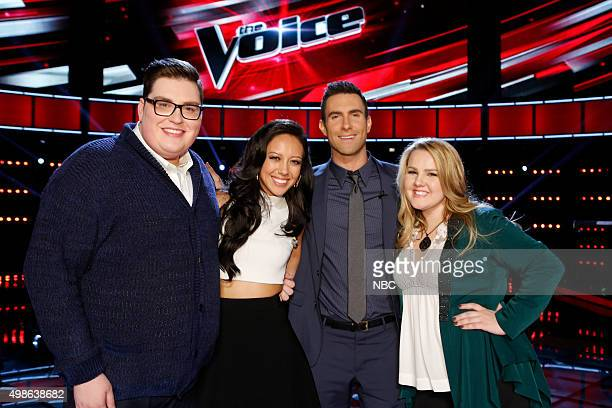 THE VOICE 'Live Top 11' Episode 915B Pictured Jordan Smith Amy Vachal Adam Levine Shelby Brown