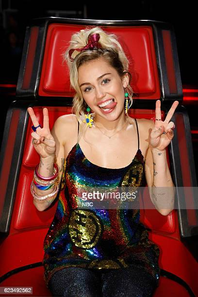 THE VOICE 'Live Top 12' Episode 1114B Pictured Miley Cyrus