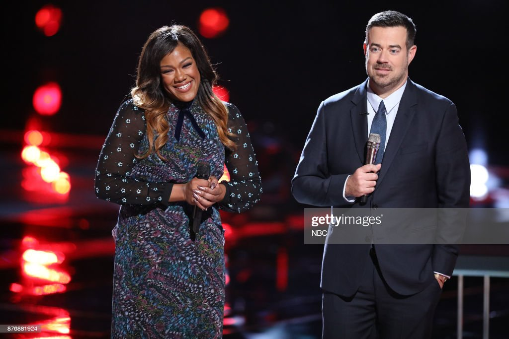 THE VOICE -- 'Live Top 12' Episode 1317A -- Pictured: (l-r) Keisha Renee, Carson Daly --