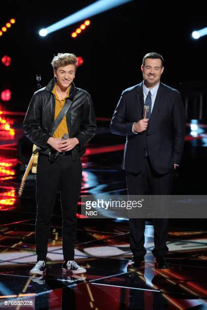 THE VOICE 'Live Top 12' Episode 1317A Pictured Noah Mac Carson Daly