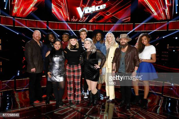 THE VOICE 'Live Top 12' Episode 1317B Pictured Red Marlow Davon Fleming Brooke Simpson Janice Freeman Addison Agen Noah Mac Ashland Craft Keisha...