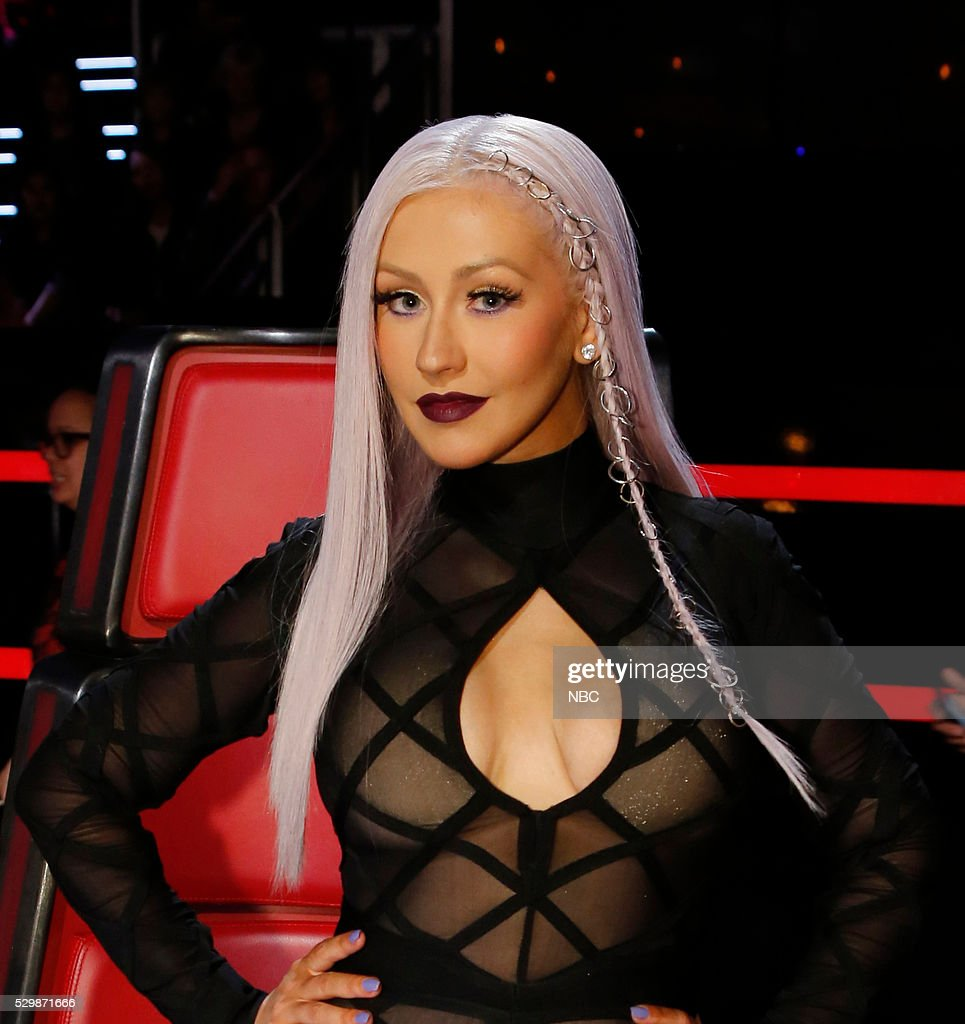 THE VOICE 'Live Top 9' Episode 1016A Pictured Christina Aguilera