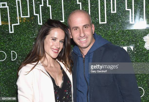 Livelihood founder Ashley Biden and Gilt Saks OFF 5TH President Jonathan Greller attend the Gilt x Livelihood launch event at Spring Place on...
