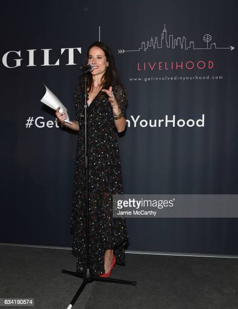 Livelihood founder Ashley Biden speaks onstage at the GILT and Ashley Biden celebration of the launch of exclusive Livelihood Collection at Spring...
