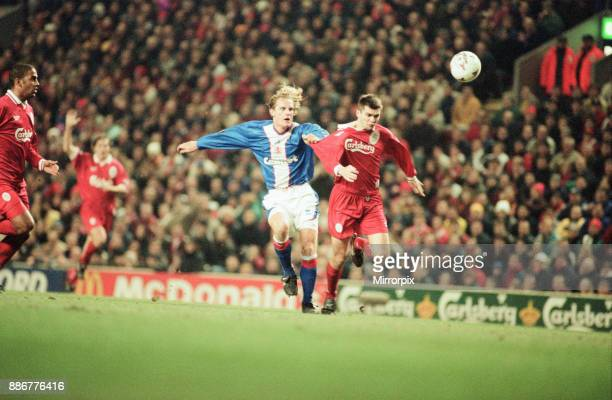 Liverpool 21 Middlesbrough League Cup semi final 1st leg match at Anfield Tuesday 27th January 1998 Mikkel Beck Steve Harkness