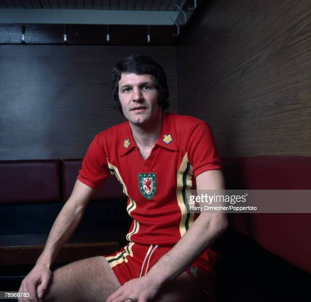 Football Liverpool and Wales player John Toshack pictured in his Welsh kit