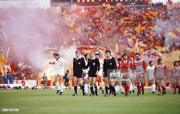 Liverpool captain Graeme Souness leads his team out before the 1984 European Cup Final between AS Roma and Liverpool Liverpool winning on penalties...