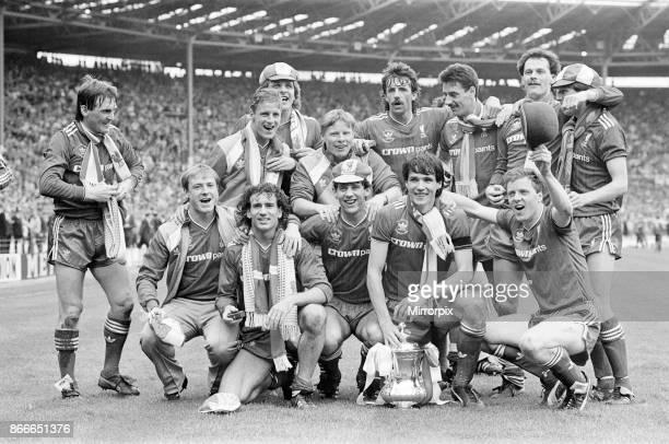 Liverpool FC 31 Everton FC FA Cup Final 1986 Wembley Stadium Saturday 10th May 1986 Post Match Scenes Kenny Dalglish Craig Johnston Mark Lawrenson...