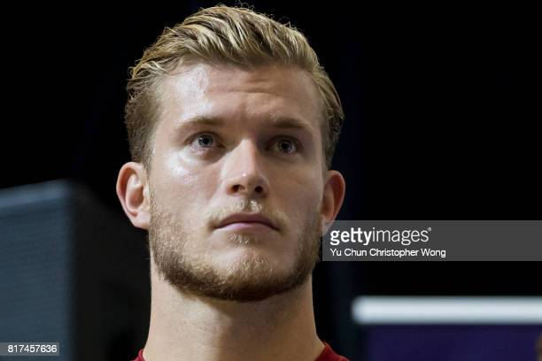 Liverpool FC goalkeeper Loris Karius attends the Premier League Asia Trophy Skills Session at Macpherson Stadium on July 18 2017 in Hong Kong Hong...