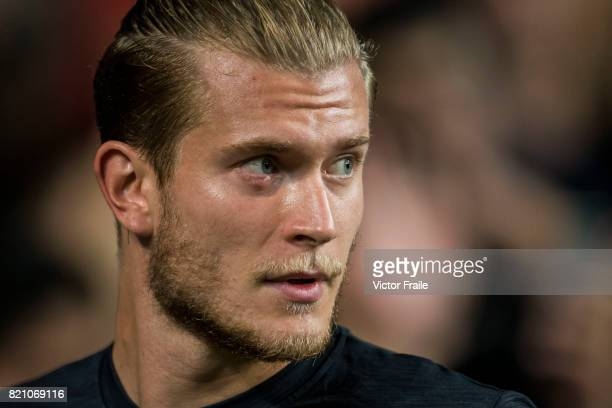 Liverpool FC goalkeeper Loris Karius during the Premier League Asia Trophy match between West Brom and Crystal Palace at Hong Kong Stadium on July 22...