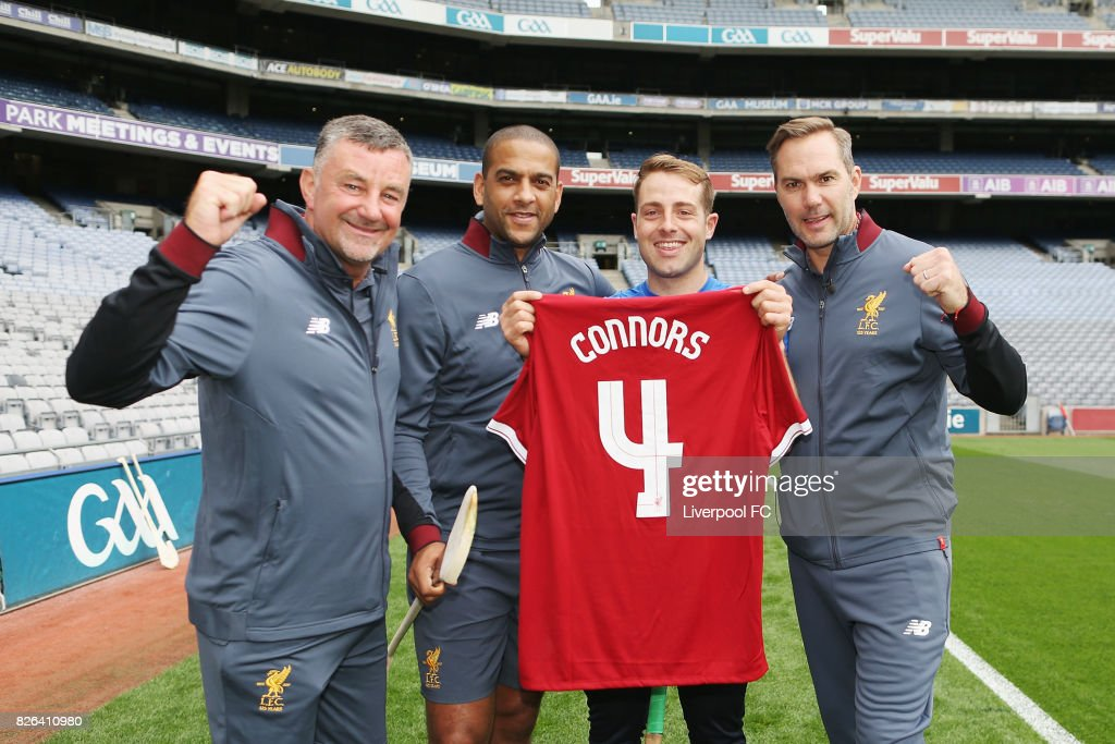 Liverpool FC Legends Jason McAteer,John Aldridge and Phil Babb Visit Croke Park