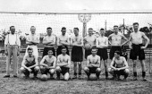 Liverpool FC line up before a Friendly match between Beogradski SK and Liverpool during the Liverpool FC tour of Czechoslovakia Serbia and Romania...