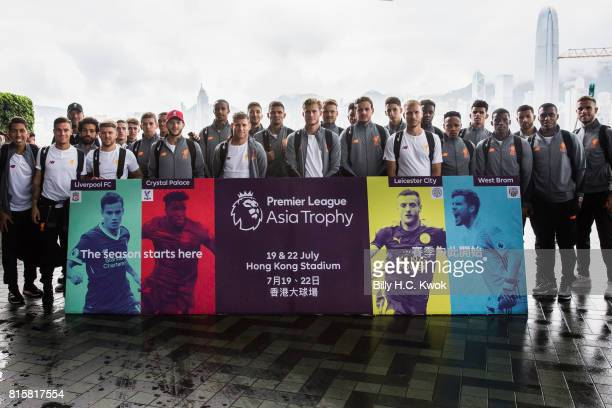 Liverpool FC players with manager Jurgen Klopp on arrival in Hong Kong on July 17 2017 for the Premier League Asia Trophy which takes place this week...