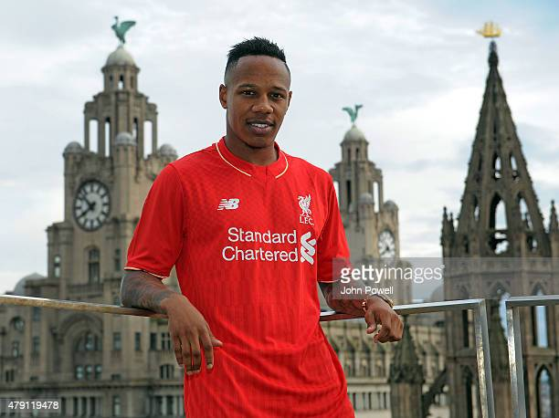 Liverpool FC unveil new signing Nathaniel Clyne on June 30 2015 in Liverpool England