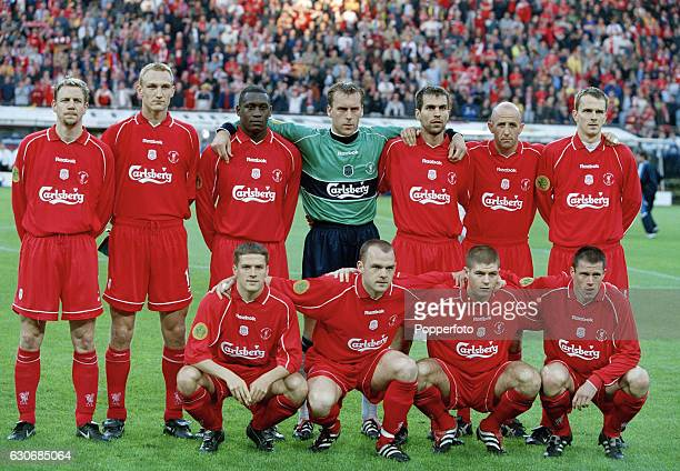 Liverpool football club winners of the UEFA Cup Final between Liverpool and Alaves in Dortmund Germany on 16th May 2001 Liverpool won 54 after extra...