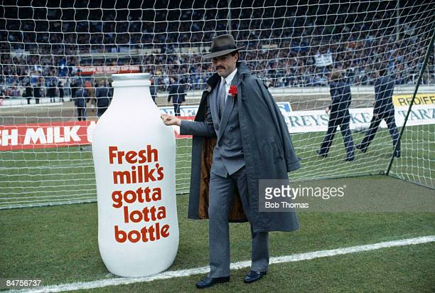 Liverpool goalkeeper Bruce Grobbelaar pictured before the League Cup Final sponsored by the Milk Marketing Board against Everton at Wembley Stadium...