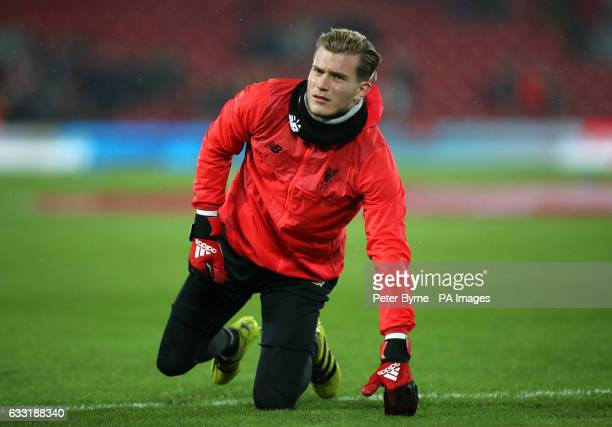 Liverpool goalkeeper Loris Karius before the Premier League match at the Anfield Liverpool